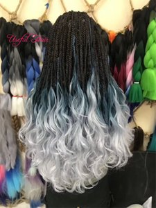 Bricolage avec Bouncey papillotes long SEA Body Tressage Extensions cheveux 24inch Crochet Tresses Body Mer synthétique Extension de cheveux Ombre pure marley femmes