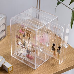 Creative Acrylic Display Box Desktop Jewerly Box Organizer For Jewellery Rings Necklace Watches C19010501