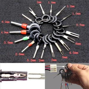 18PCS Herramienta de eliminación de terminales de cable de coche Cableado Conector Pin Extractor Herramientas de extracción