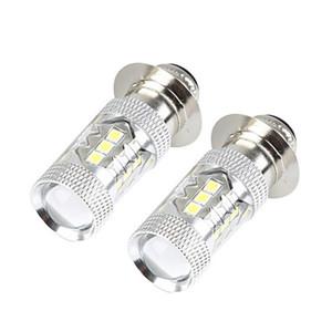 Niedriger Verbrauch ultra lange Lebensdauer Art und Weise Super HID Weiß NEW 2pcs H6 80W P15D Auto Auto-Motorrad-LED-Scheinwerfer-Birnen # 263767