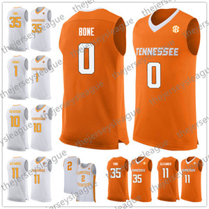 Теннесси Волонтеры # 0 Кость 11 Kyle Alexander 34 Брок Jancek 35 Yves Pons Оранжевый 2018 Белый Оранжевый NCAA College Basketball Джерси