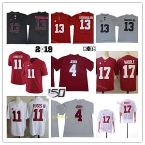 Mens Alabama Crimson Tide Jaylen Waddle Football Jersey # 13 Tua Tagovailoa Jersey # 4 Jerry Jeudy # 11 Henry Ruggs III Jersey Alabama
