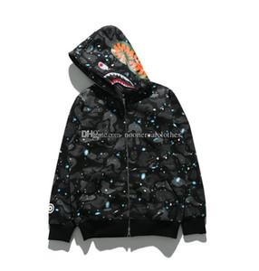Hip mens camisas del diseñador del basculador de chándal Pullover Sportwear Fleece con capucha Bird OVO Drake Negro Hop con capucha de aire luminoso Supre tiburón