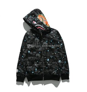 Mensentwerfer Shirts Jogger Anzug Pullover Sportwear Fleece-Sweatshirt Vogel OVO Drake Black Hip Hop Air Hoodie Luminous Supre Shark