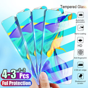 1 2 3 4 Pcs Tempered Glass For Huawei P40 P30 Lite P20 Pro P Smart 2019 Screen Protector Protective Glass For Huawei Mate 30 20
