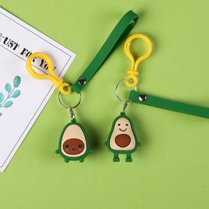 2019 Sevimli Karikatür Meyve Avokado Doll Anahtarlık Silika jel Anahtarlık Kadınlar Araba Çanta kolye Kemer Biblolar Anahtarlıklar Beast Hediyeleri