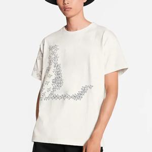 19ss monogramme avions Imprimé Mode T-Shirt D'été Respirant Tee Casual Simple Hommes Femmes Rue À Manches Courtes Ras Du Cou HFHLTX118