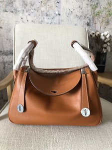 best quality orginal 26cm brown liindy handbag,handmade with wax line,both gold and silver hardware for chosen,also have other size