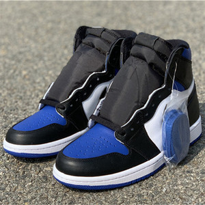 2020 Best Quality 1 High OG Game Royal Mens Basketball Shoes Black White Blue Sports Sneakers Ship With Box Size EU40-46