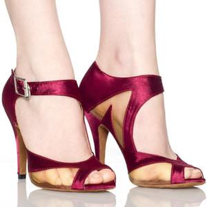 XSG mujeres en los zapatos de tacón alto de las mujeres de cuero suave de fondo de baile latino usan zapatos zapatos de baile latino nuevo estilo nacional de normalización comunión