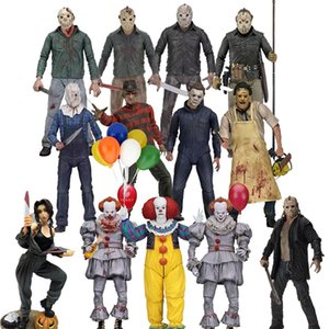 Michael Myers Freddy Krueger Pennywise NECA 3D Sexta-Feira 13 Jason Leatherface Chainsaw John Carpenter Ação Joker Figura Toy T191226