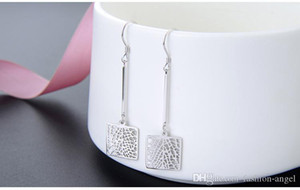 Top-Qualität Frauen S925 Sterlingsilber-Tropfen-Ohrringe SS925 Ohrring Frauen Silberohrring Quasten-Ohrringe baumelnde Ohrringe DDS