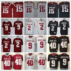 Hombres, mujeres, jóvenes # 15 # 2 Myles Garrett Johnny Manziel # 40 # 12 # MILLER 9 sellos-JONES Texas A & M Aggies Colegio camisetas de fútbol