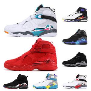 air retro jordan 8 2019 Hommes Chaussures De Basketball 8s Bugs Réfléchissants Lapin Saint Valentin Aqua SOUTH BEACH 8 Chrome 3PEAT PLAYOFF entraîneur Sports Sneaker Taille 7-13