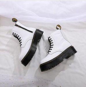 botas de los hombres populares de la marca Martens cálido invierno zapatos de cuero de la motocicleta botines de plataforma panecillo oxford zapatos de las Doc Martens hombres de piel 685