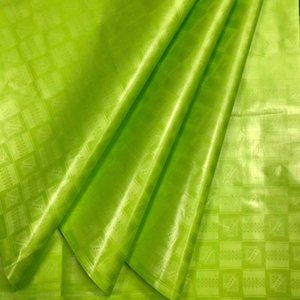 Africano suave Atiku limón verde brocado tejido de alta calidad Bazin Riche 5Yards / pc Brocade encaje Bazin Riche
