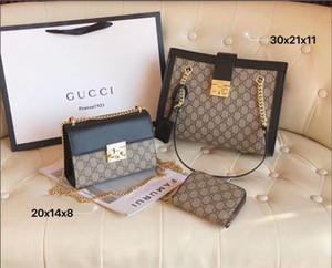 prodotto genuino totes Tre pezzi designer borsa classica di alta qualità Nuovo design di lusso delle donne Borse Famoso Oro Borse a tracolla a catena