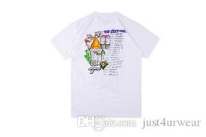 Mens Fashion Designer I graffiti di stampa T-shirt in cotone manica corta casuale girocollo Colore Bianco Tee Maschio Abbigliamento