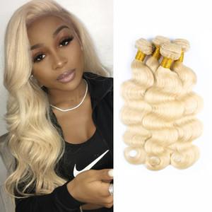 # 613 Blonde Hair Weave Bundles cheveux brésiliens Body Wave pour les femmes noires 3 ou 4 faisceaux 10-28 pouces Remy Extensions de cheveux humains