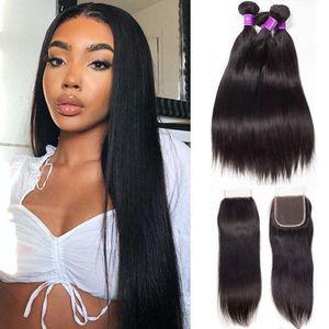 Brazilian Human Hair Extension 3 Pcs Lot Malaysian Peruvian Cambodian Unprocessed Virgin Straight Hair Bundles Dyeable 9A Human Hair Weave