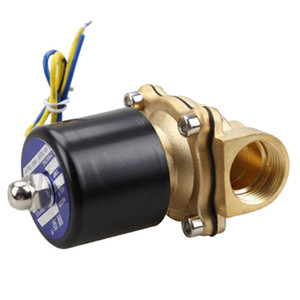 Freeshipping 2W-200-20 3 4 Inch Brass Electric Solenoid Valve Water Air Fuels N C DC 12V