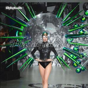 Catwalk étape attrayant marche gonflable Thorn Bubble Bal costumé 2m adultes Wearable Blow Up Party Les costumes discothèque et Fashion Show