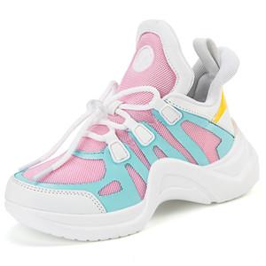 Miúdos que funcionam Sneakers Primavera-Verão Crianças Sport Shoes Tenis Infantil Menino Basket Footwear Leve respirável menina Flats