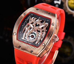 Wholesale Mens Luxury Watch Brand New Designer Watches Diamond Dial Iced Watch Quartz Movement Rubber Strap Male Sport Wristwatch Clock