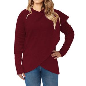 Женщины Batwing свитер с карманом Сыпучего капюшоном пальто куртки сплошного цвета пуловер Толстовка Осень Зима Теплой Непостоянные Hoodie свитер