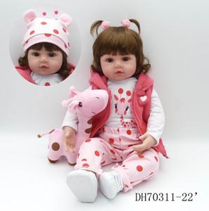 NPK bebe bambole reborn principessa Girl Doll morbido silicone Vinyl Reborn Bambole realistica del bambino del bambino dei bambini del regalo di compleanno Y191211