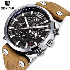 BENYAR Mens Relógios Top Chronograph Desporto Mens Relógios Moda Marca impermeável Watch Relogio Masculino BY-5112M