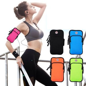 Mobile phone arm bag sports fitness outdoor cover arm bag arm strap wrist phone Pouch Suitable for mobile phone screen below 6 inches