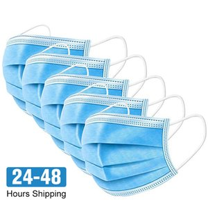 Disposable Face Masks 3 Layers Dustproof Mask Facial Protective Cover Masks Set Anti-Dust Breathable Safety mouth Mask
