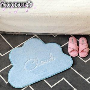 50*67cm INS Nordic Style Cloud Cotton Plush Mat Children's Carpet Mat Game Pad Crawling Mat Room Decoration Carpet Cushion