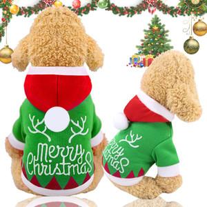 الدافئة عيد الميلاد الكلب الملبس هوديي الشتاء الحيوانات الأليفة ملابس الكلب سترة معطف جرو الملابس هوديس للشركات الصغيرة المتوسطة الكلاب لوازم الزي XS-2XL