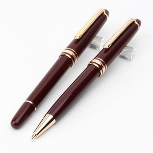 Classique Top Quality Wine MT164 Red Burgundy Gold-Revestido Top Quality Rollerball Pen venda quente caneta esferográfica para presentes