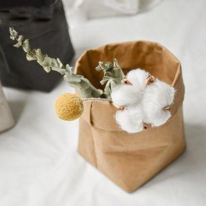 Waschbare Kraft Paper Bag Pflanze Blumen Töpfe Multifunktionsspeicherbeutel Reuse kleine Geschenk-Taschen Sandwich-Brot-Taschen