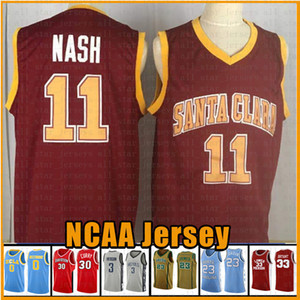 vendita superiore Santa Clara College di Steve Nash 11 Basketball Maglia Rosso 23 James Dwyane Wade 3 Stephen Curry 30 2 Leonard 11 Irving NCAA Maglie