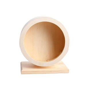Pet Toy Wheel Pet Eco-friendly Wooden Hamsters Exercise Mute Running