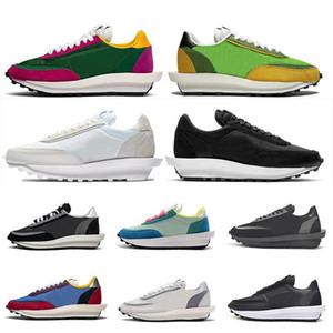 2019 zapatos de alta calidad Sacai LDV Waffle alba formadores para el diseñador de moda Hombres Mujeres Breathe Callos S zapatos corrientes de las zapatillas de deporte