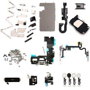 USB Şarj dock Güç Anahtarı Ses Kulaklık Loud Hoparlör Ön Kamera Kablosu WIFI GPS Ana Düğme flex iphone 7 Için vida Ile