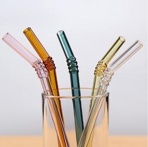 Vetro ambientale 100pcs speciale Belle vetro curvo Dispensare Salute Bambino che beve Art Cannucce Pipetta Cannucce Eco-friendly