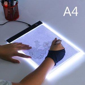 A4 Ultra-delgada almohadilla de luz LED caja de luz tableta gráfica Led Tablet dibujo Tracer Mesa diamante pintura Tracing Pad copia tablero