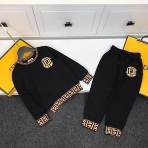 Carta del muchacho del bebé sudadera impresión de la ropa de los deportes fijados Hoodied camisetas Pantalones Sweatsuit niños ropa de primavera Otoño traje de chándal 668