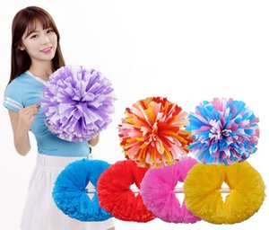 Sports pompoms Cheerleader pompons High quality Cheerleading supplies Color and handle can choose