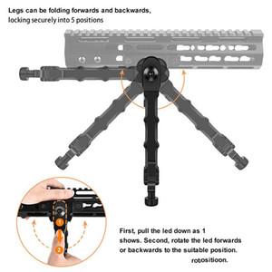 Av Tüfek bipod Cıvata Eylem V9 Bölünmüş bipod fit 20mm Picatinny Raylı Taktik Alüminyum Lastik Ayaklar 5 Yerleştirme Açısı