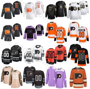 Nom personnalisés Flyers de Philadelphie 2020 Hockey sur glace 6 Travis Sanheim Maillots 5 Philippe Myers 49 Joel Farabee 12 Michael Raffl 50e anniversaire