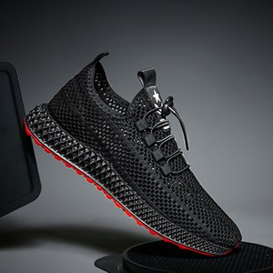 Men's Shoes Tide Shoes Korean Version of The Tie with Mesh Sports Casual Breathable Net Running