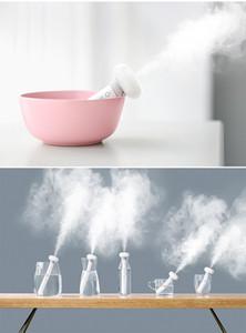 Weiß Dismountable Luftbefeuchter Donuts USB Purifier Aroma Diffuser Auto-Nebel-Hersteller Mineralwasserflasche Dampfreiniger A088