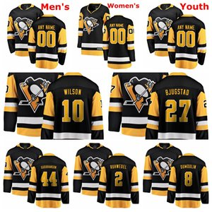 Pittsburgh Penguins Jerseys Wilson Jersey Nick Bjugstad Brian Dumoulin Gudbranson Chad Ruhwedel Black White Hockey Jerseys Custom Stitched